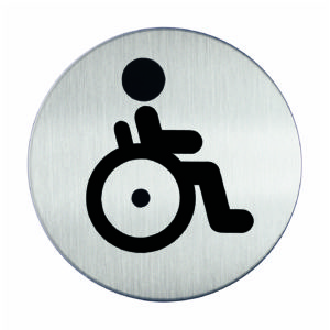 Piktogram Ø8.3 WC Niepełnosprawni