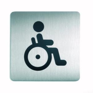Piktogram 15x15cm WC Niepełnosprawni
