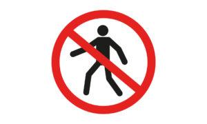 Znak Zakaz Przejścia