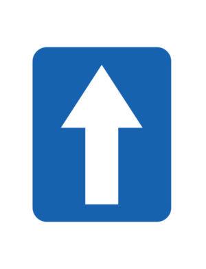 Znak Droga Jednokierunkowa