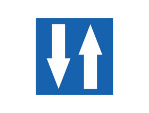 Znak Droga Dwukierunkowa